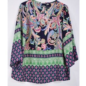 Honeylee Oversized neon floral tunic